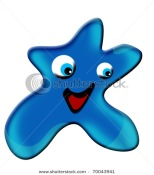 blue happy star stock image on shutterstock