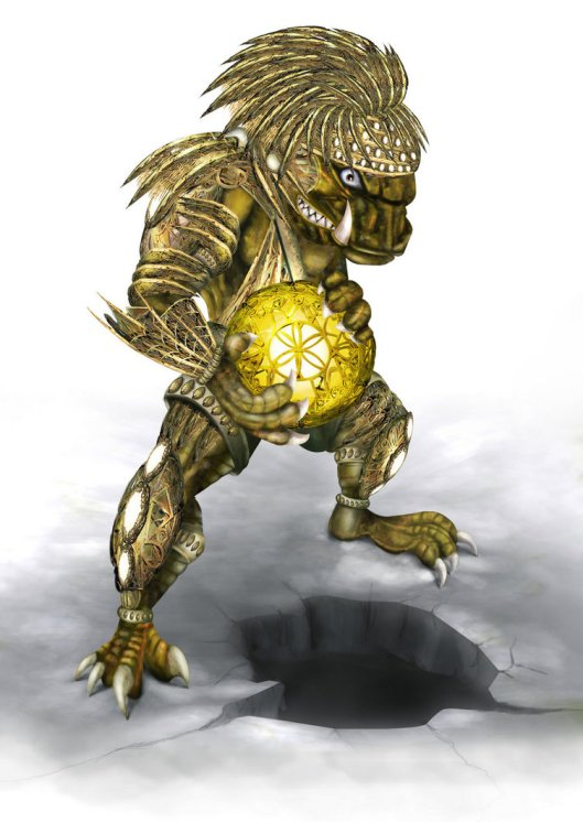 monster with magic globe