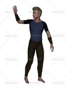 a 3d render of a man saying hello royalty free stock image