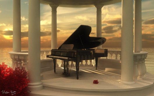 piano 3d render by missy