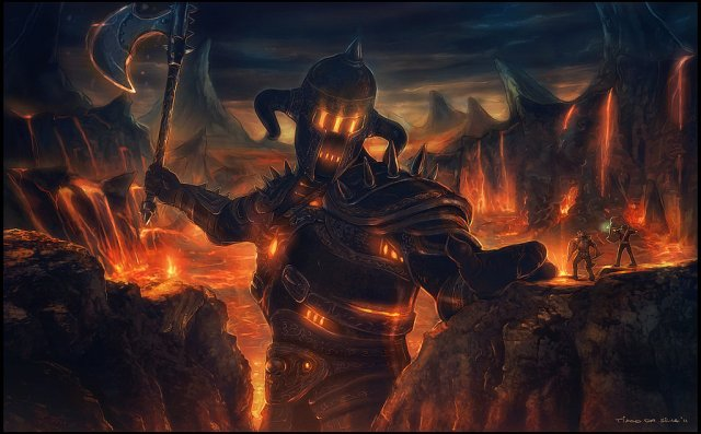 fire colossus painting