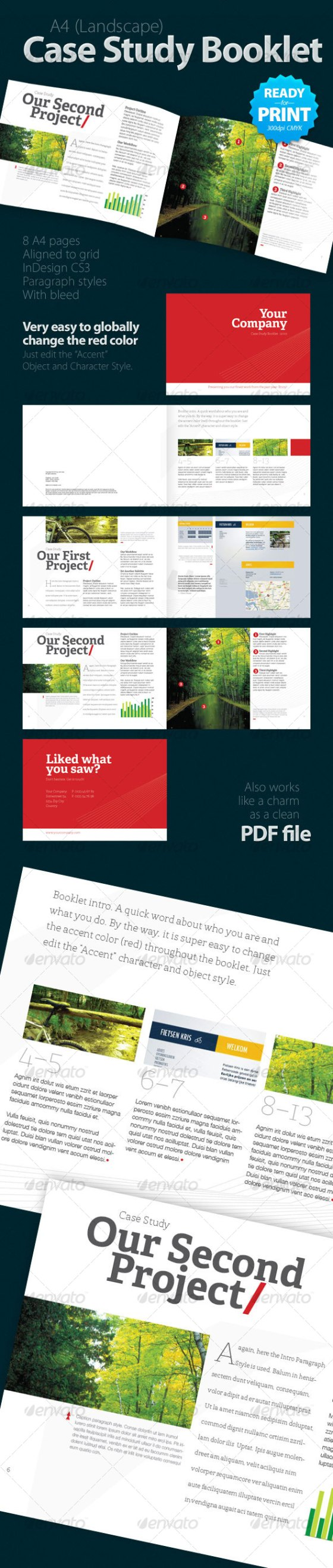 A4 case study booklet indesign