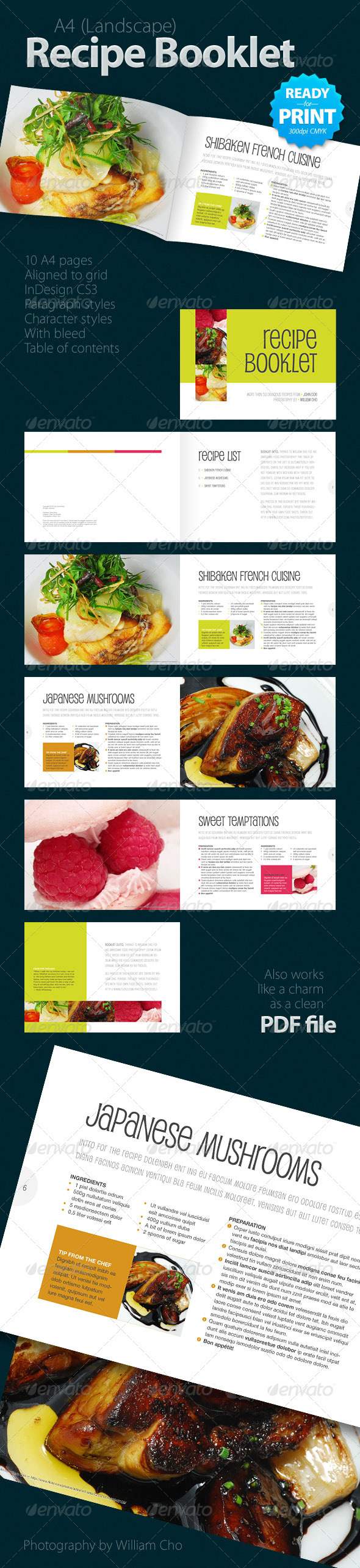 recipe booklet design