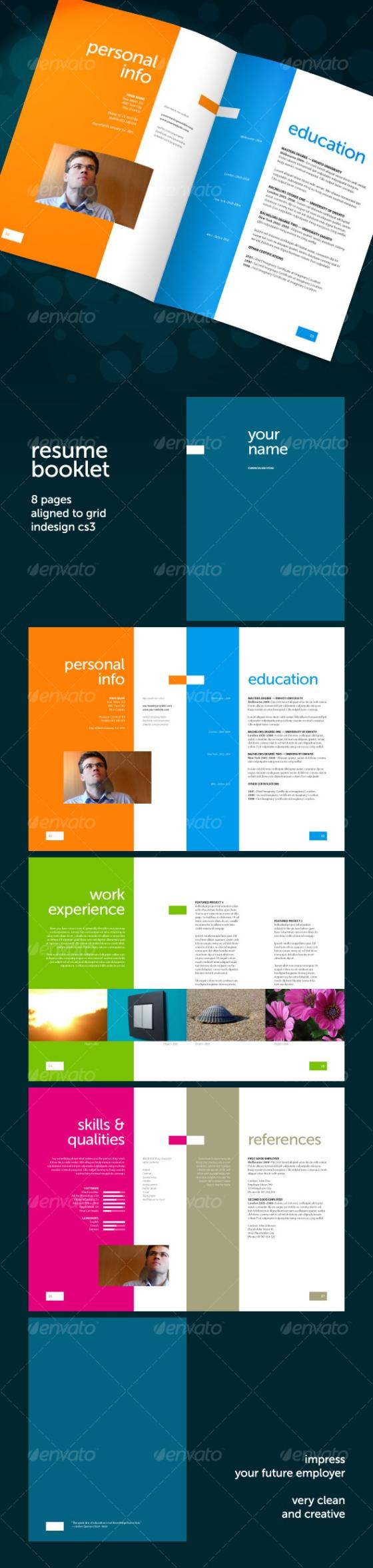 resume portfolio booklet design
