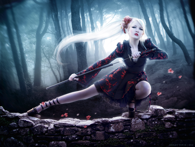 beautiful dreamy girl photo manipulation