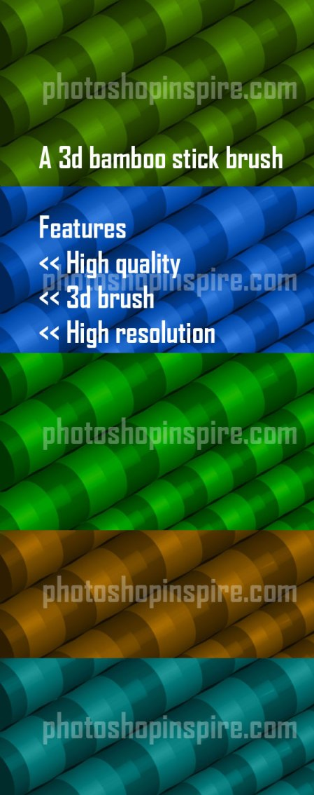 3d bamboo photoshop brush free download