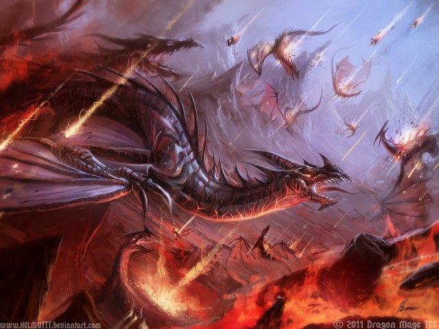 dragon digital painting