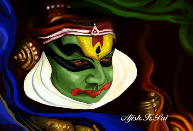 Indian dance form kathakali
