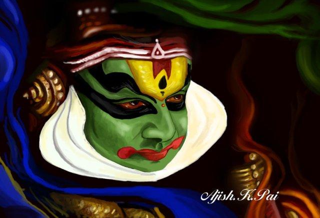 Indian dance form kathakali
