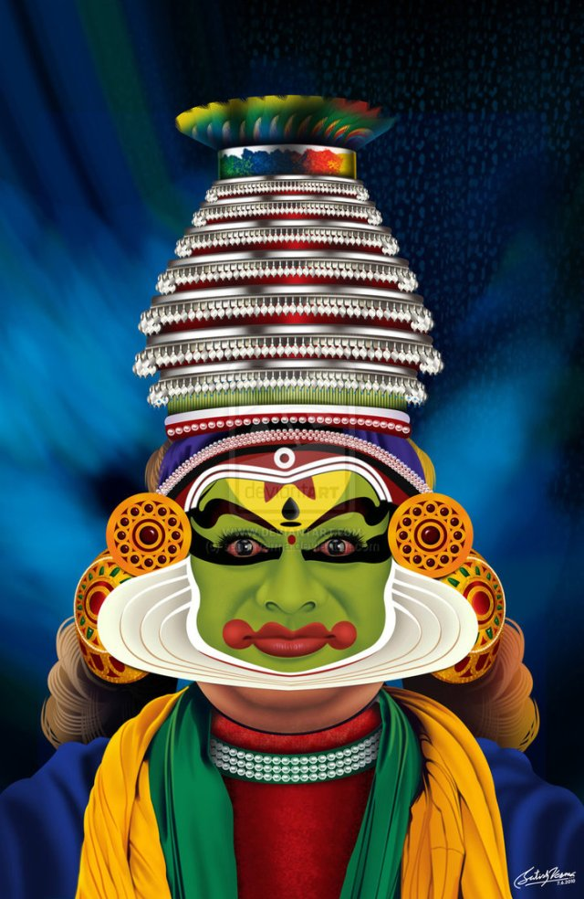 kathakali Indian dance painting