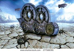 Steam punk world stock photo