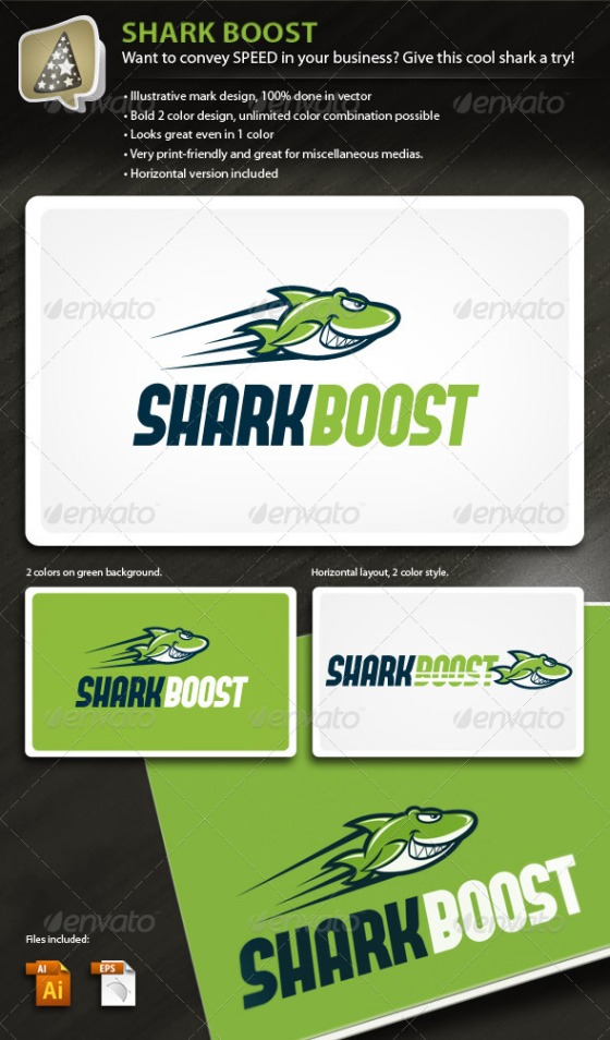 Shark boost logo for speedy business