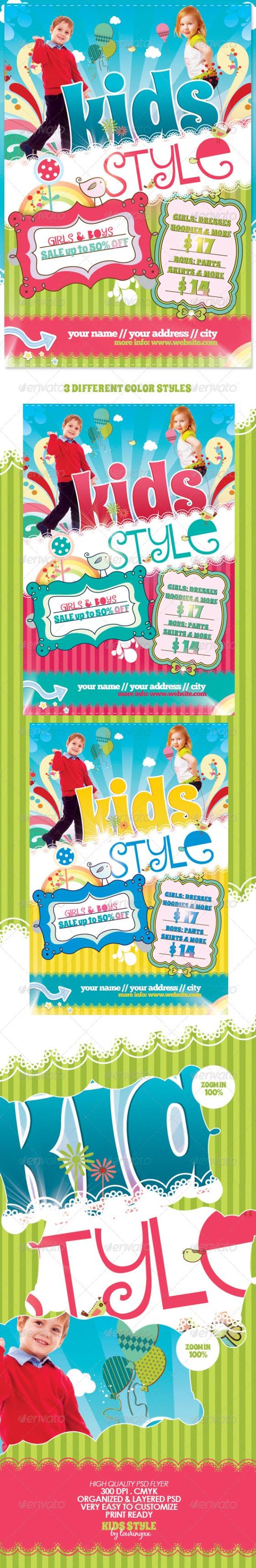 Kids style flyer