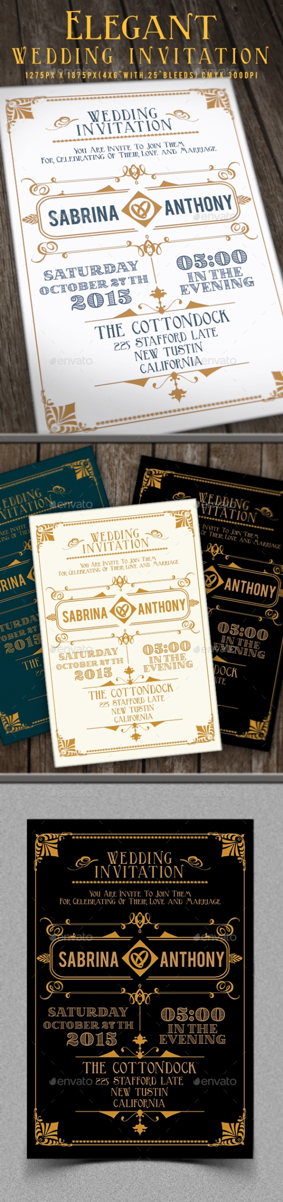 Elegant Wedding Invitation graphicriver