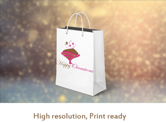 logos with a bouquet of flowers in pink and chocolate brown colors